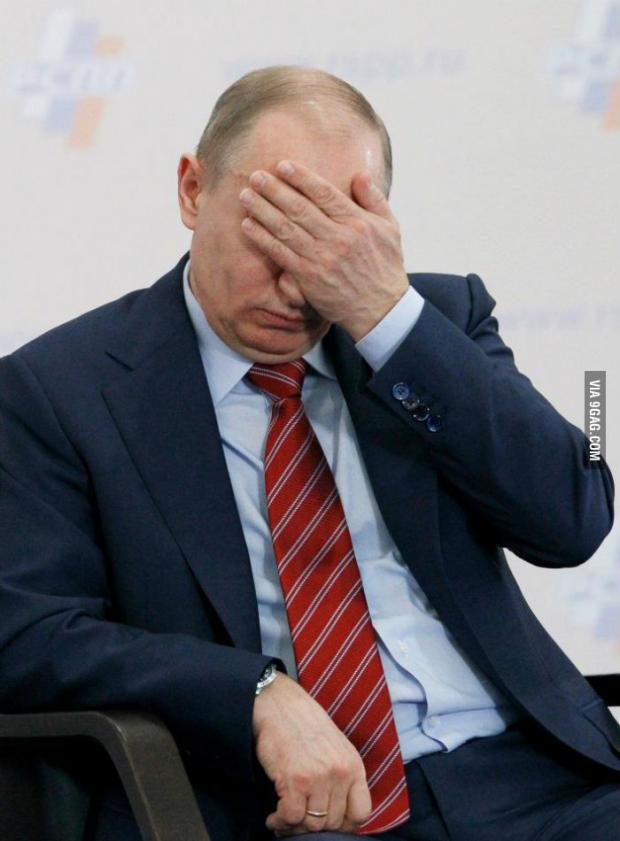High Quality Putin Facepalm Blank Meme Template