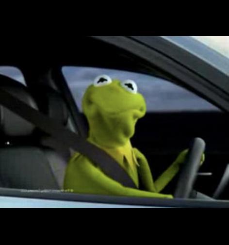 Kermit Driving Meme Generator Imgflip