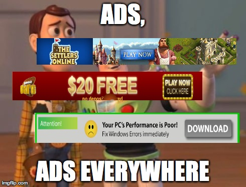 Image result for Ads, ads everywhere