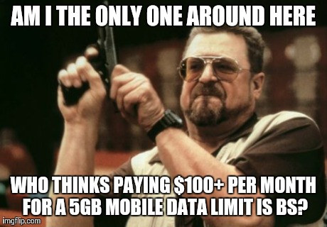 My mobile data program is an overall total ripoff.