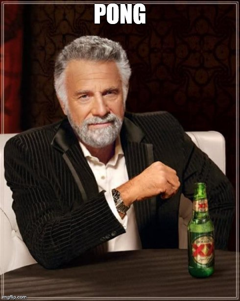 The Most Interesting Man In The World Meme | PONG | image tagged in memes,the most interesting man in the world | made w/ Imgflip meme maker