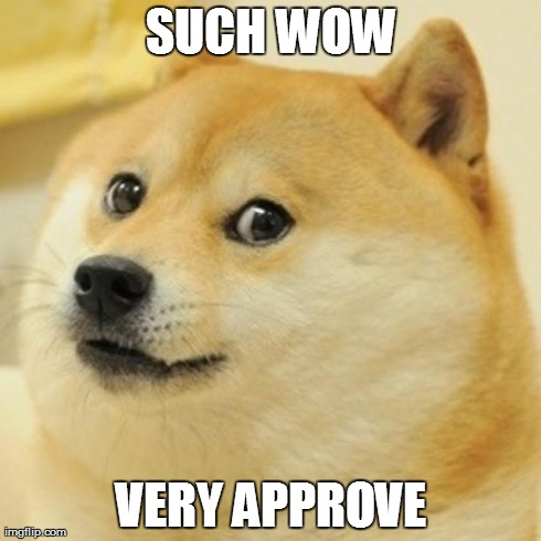 Doge Meme | SUCH WOW VERY APPROVE | image tagged in memes,doge | made w/ Imgflip meme maker