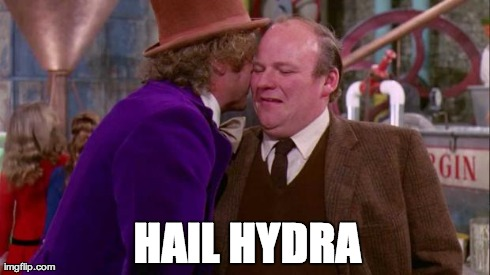 Hail Hydra Will Wonka | HAIL HYDRA | image tagged in hail hydra willy wonka,willy wonka,hydra,the avengers | made w/ Imgflip meme maker