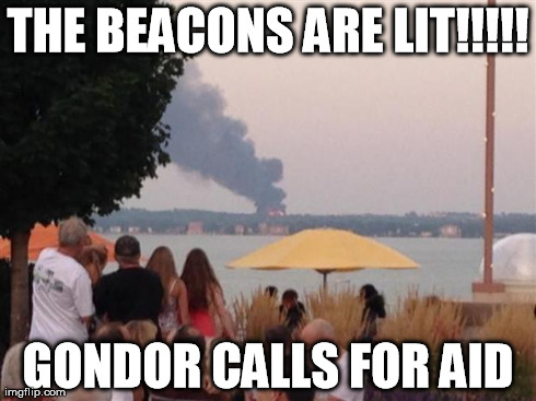 There was a fire in Madison WI yesterday (8/8/14) that you could see for miles and this was all i could think