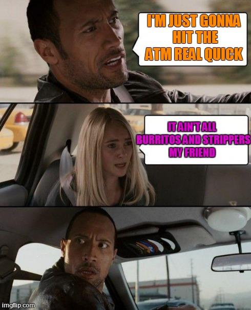 b41dr the rock driving meme imgflip