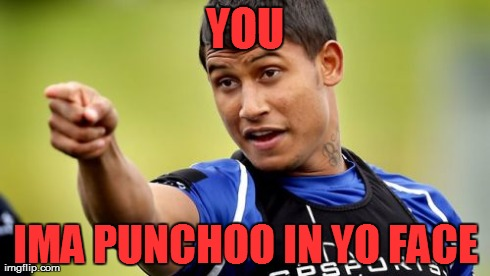 Ben Barba Pointing | YOU IMA PUNCHOO IN YO FACE | image tagged in memes,barba | made w/ Imgflip meme maker
