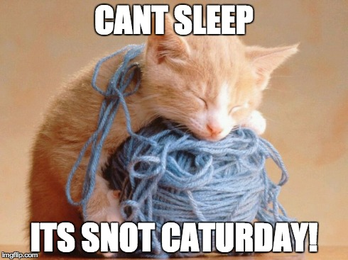 CANT SLEEP ITS SNOT CATURDAY! | made w/ Imgflip meme maker