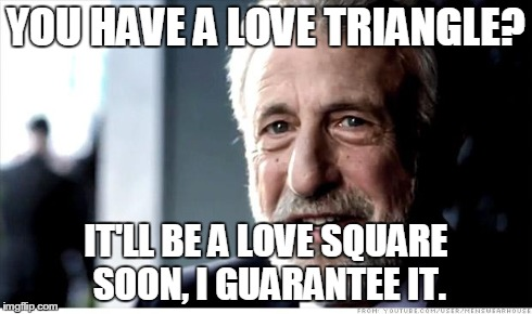 Výsledek obrázku pro love triangle meme