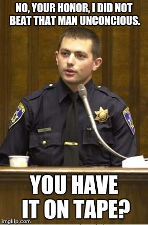 Police Officer Testifying Meme - Imgflip
