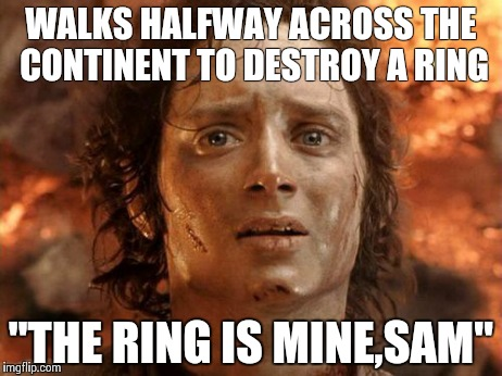 Image result for frodo destroys the ring