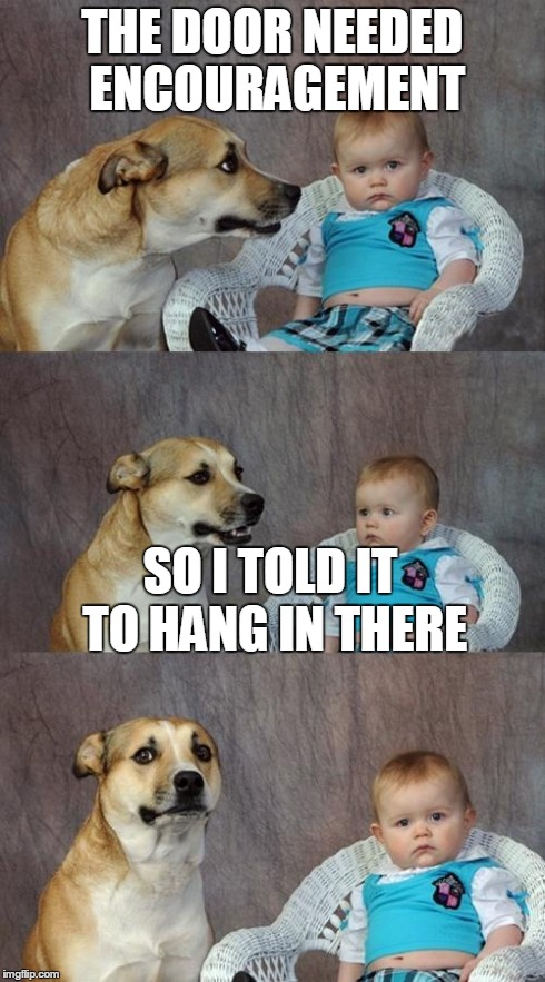 dad joke dog meme imgflip. Black Bedroom Furniture Sets. Home Design Ideas