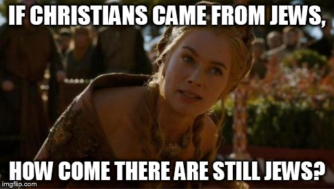 "For the Christians who go ""IF we evolved from apes, how come there are still apes?"" 