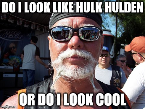 Tough Guy Wanna Be | DO I LOOK LIKE HULK HULDEN OR DO I LOOK COOL | image tagged in memes,tough guy wanna be | made w/ Imgflip meme maker