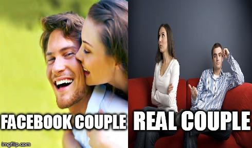 Fun Couple Meme : Facebook vs. reality imgflip