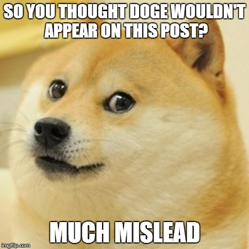 Doge Meme | SO YOU THOUGHT DOGE WOULDN'T APPEAR ON THIS POST? MUCH MISLEAD | image tagged in memes,doge | made w/ Imgflip meme maker