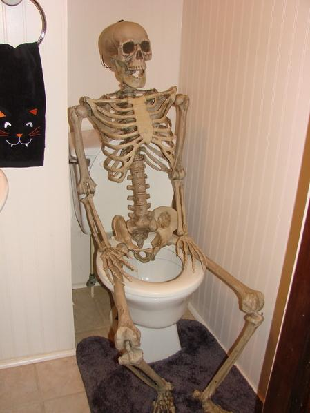 skeleton on toilet blank template imgflip