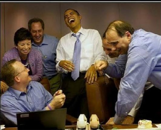 Obama laughing all the wayto the bank Blank Meme Template