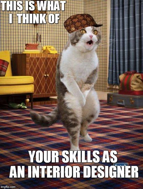 Gotta go cat meme imgflip for What s an interior designer