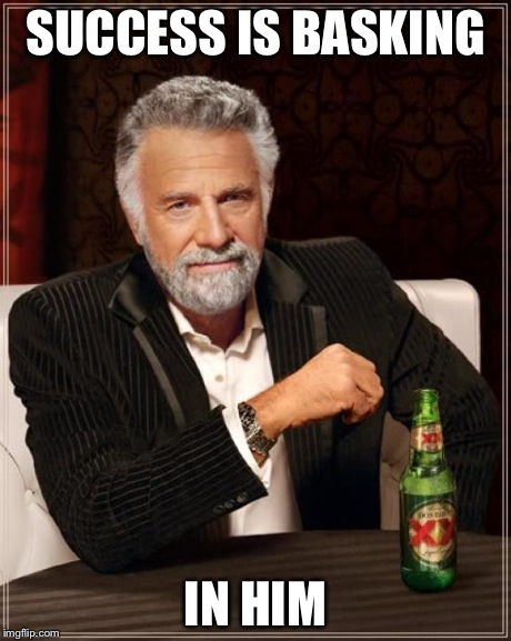 The Most Interesting Man In The World | SUCCESS IS BASKING IN HIM | image tagged in memes,the most interesting man in the world | made w/ Imgflip meme maker