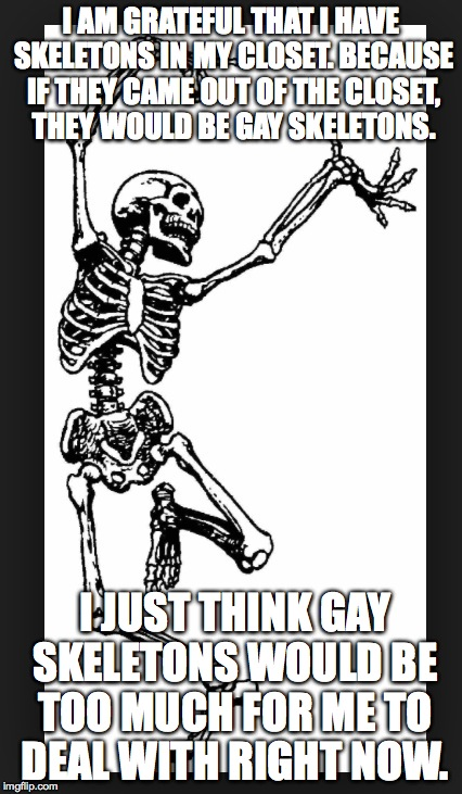 Image result for skeleton out of the closet