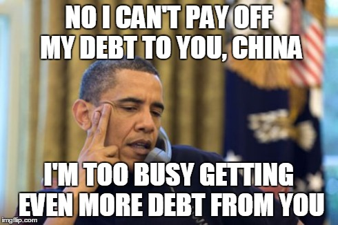 ed32v no i cant obama meme imgflip,Debt Meme