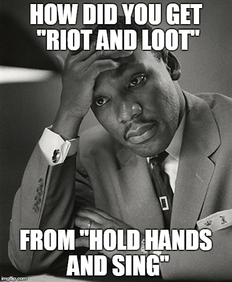 "HOW DID YOU GET ""RIOT AND LOOT"" FROM ""HOLD HANDS AND SING"" 