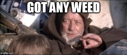 These Aren't The Droids You Were Looking For | GOT ANY WEED | image tagged in memes,these arent the droids you were looking for | made w/ Imgflip meme maker