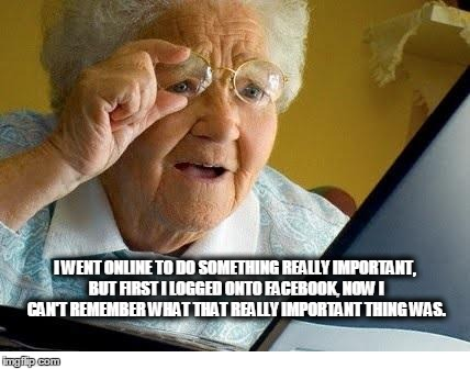 Funny looking old lady