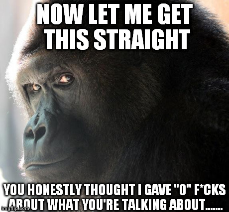 "You Thought I Gave ""0"" F*cks 