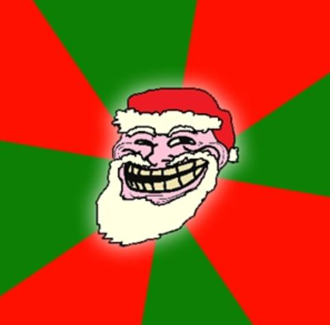 Christmas Santa Claus Troll Face Meme Template