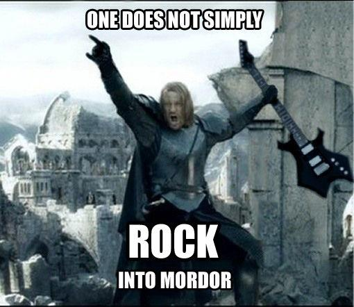One Does Not Simply Meme | one does not simply rock into mordor | image tagged in funny,memes,one does not simply