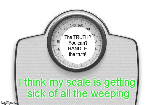My bathroom scale is talking back. chooselaughter s Images   Imgflip