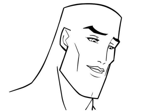 Handsome Face Blank Template