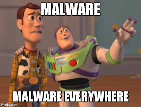 X, X Everywhere Meme | MALWARE MALWARE EVERYWHERE | image tagged in memes,x x everywhere | made w/ Imgflip meme maker