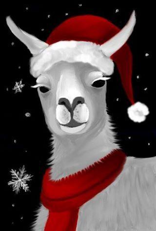 llama christmas blank template imgflip