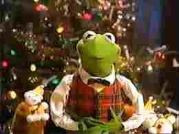 High Quality Christmas Kermit 2014 Blank Meme Template
