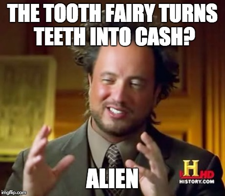 Tooth Fairy Messy Room Note