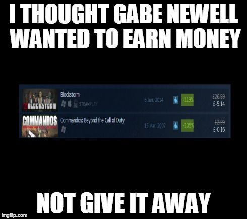 Gabe Newell is giving us money? | I THOUGHT GABE NEWELL WANTED TO EARN MONEY NOT GIVE IT AWAY | image tagged in gabe,newell,gabe newell,steam,money,give away | made w/ Imgflip meme maker