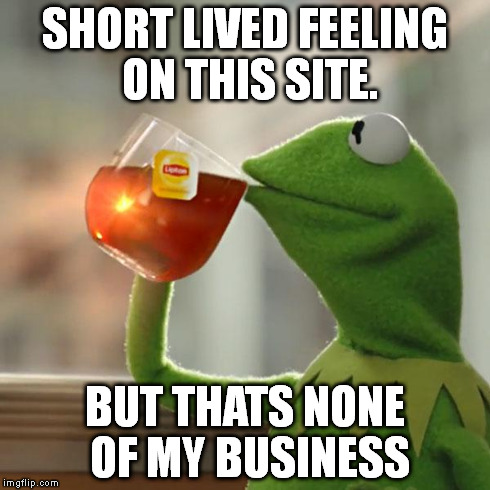 But Thats None Of My Business Meme | SHORT LIVED FEELING ON THIS SITE. BUT THATS NONE OF MY BUSINESS | image tagged in memes,but thats none of my business,kermit the frog | made w/ Imgflip meme maker