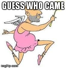 Downvote Fairy | GUESS WHO CAME | image tagged in downvote fairy | made w/ Imgflip meme maker