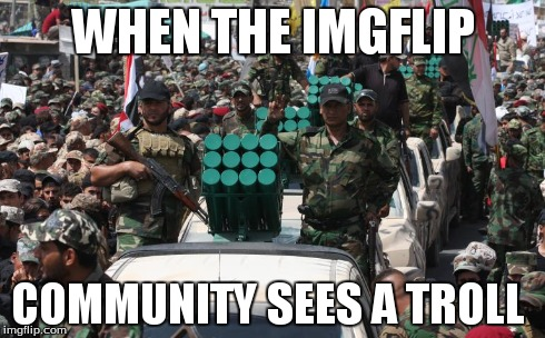 WHEN THE IMGFLIP COMMUNITY SEES A TROLL | image tagged in troll,flame,funny,imgflip | made w/ Imgflip meme maker