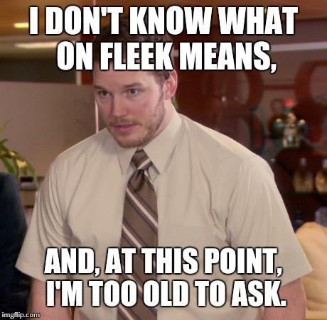 g7y5r on fleek? i'm 30 imgflip,Fleek Meme