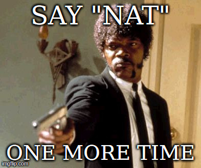 "Say That Again I Dare You Meme | SAY ""NAT"" ONE MORE TIME 