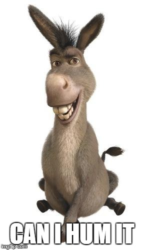 Donkey from Shrek | CAN I HUM IT | image tagged in donkey from shrek | made w/ Imgflip meme maker