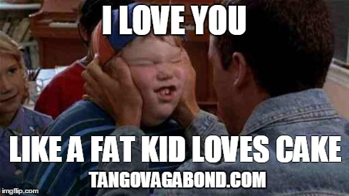 i love you like a fat kid loves cake image tagged in kid imgflip 5050
