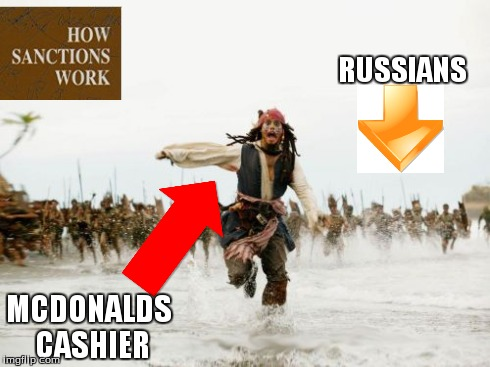 Jack Sparrow Being Chased | RUSSIANS MCDONALDS CASHIER | image tagged in memes,jack sparrow being chased | made w/ Imgflip meme maker