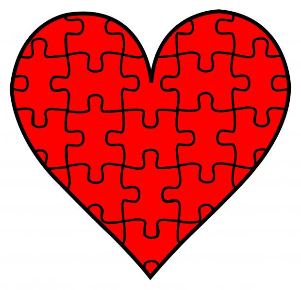 heart puzzle blank template imgflip