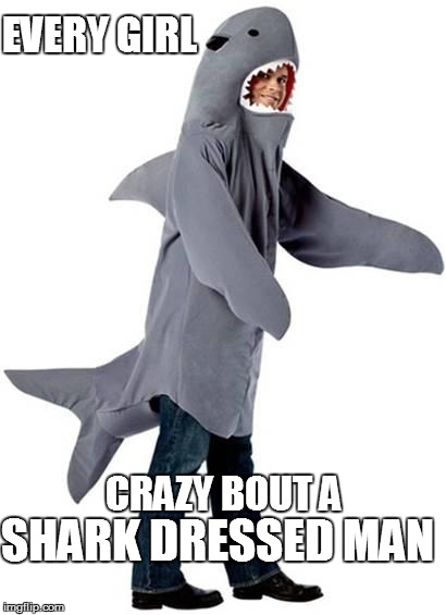 Blank Meme Man Shark Dressed Man Cost...