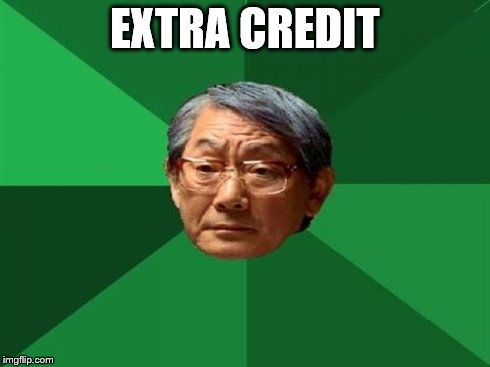 EXTRA CREDIT | made w/ Imgflip meme maker