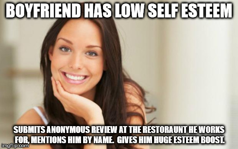 Low self esteem boyfriend